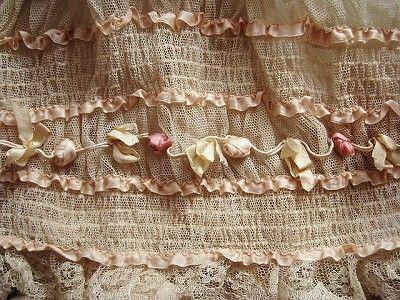 ribbon work around skirt bottom