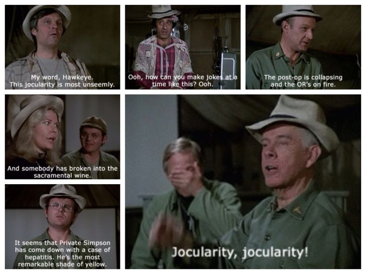 Teasing Father Mulcahy << We all thought Radar's was the best... till Colonel Potter put on the hat