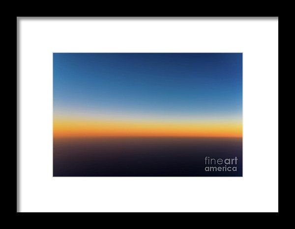 Aerial Photo Of Ocean Sunset Framed Print