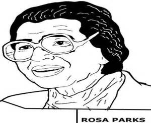 Rosa Parks Coloring Page Printable Sketch Template