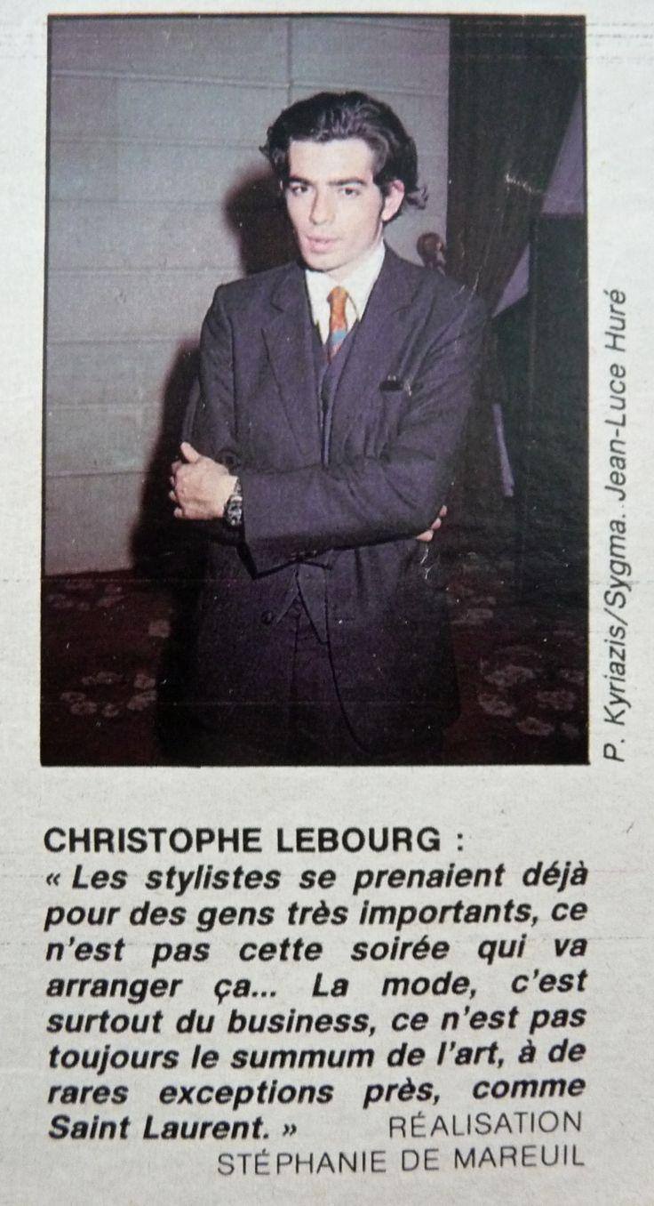 CHRISTOPHE LEBOURG À L'ÉLYSÉE