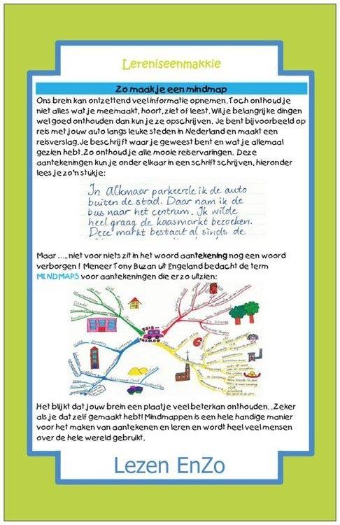 Hulpkaart #mindmap maken > Leren is een makkie