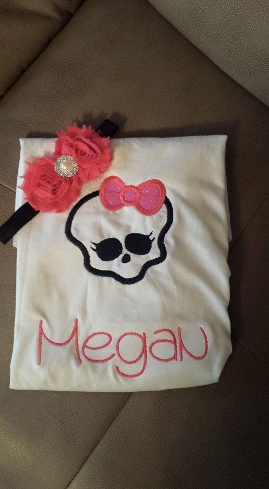 monster high shirt w/headband by AMcutetutuboutique on Etsy (null)