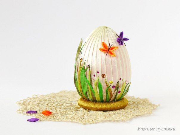 Easter kanzashi egg Пасхальное яйцо канзаши