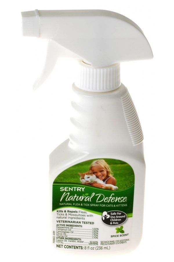 On Sale Sentry Natural Defense Flea Tick Spray For Cats Kittens