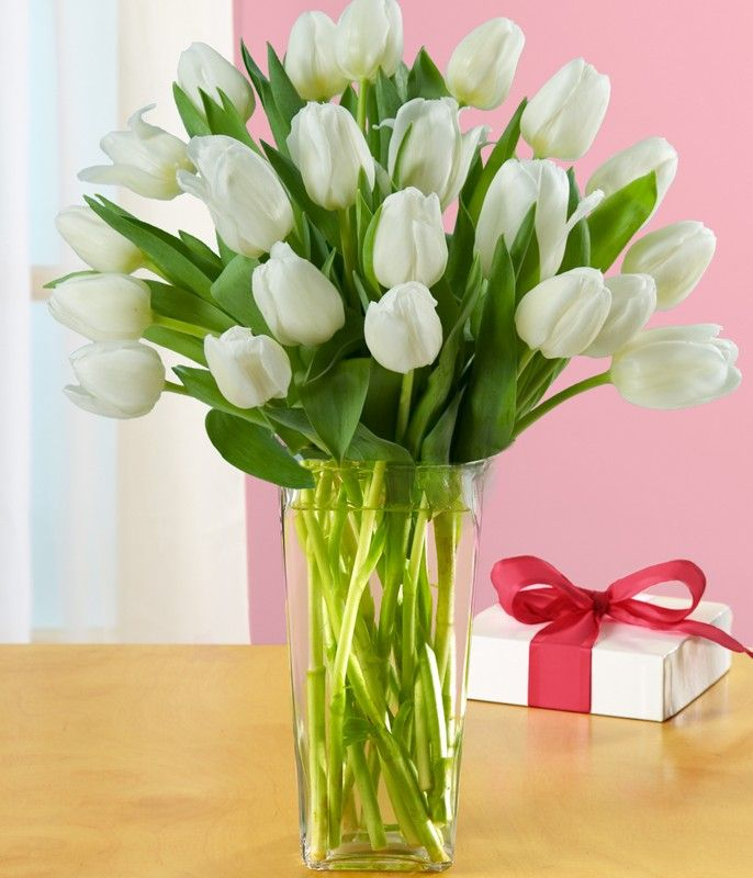 Celebrate someone's special day in an unforgettable way by sending elegant #TulipFlowers for #BirthdayGift.