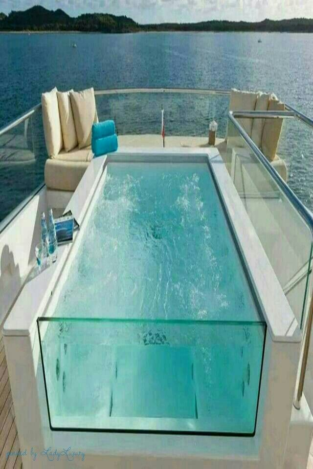 Luxury Yacht Pool. Travel the world with Private Jet Charter. Charter a Jet with…