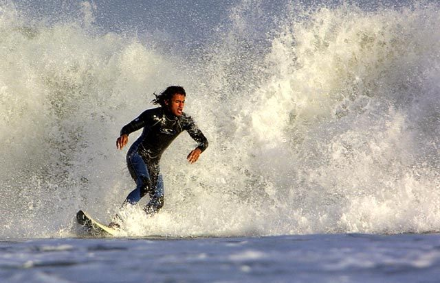 surfer in your front yard 250 feet from bldg