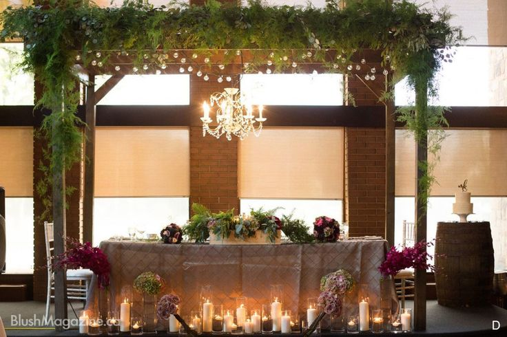 Reception Pergola Covered In Textural Greens