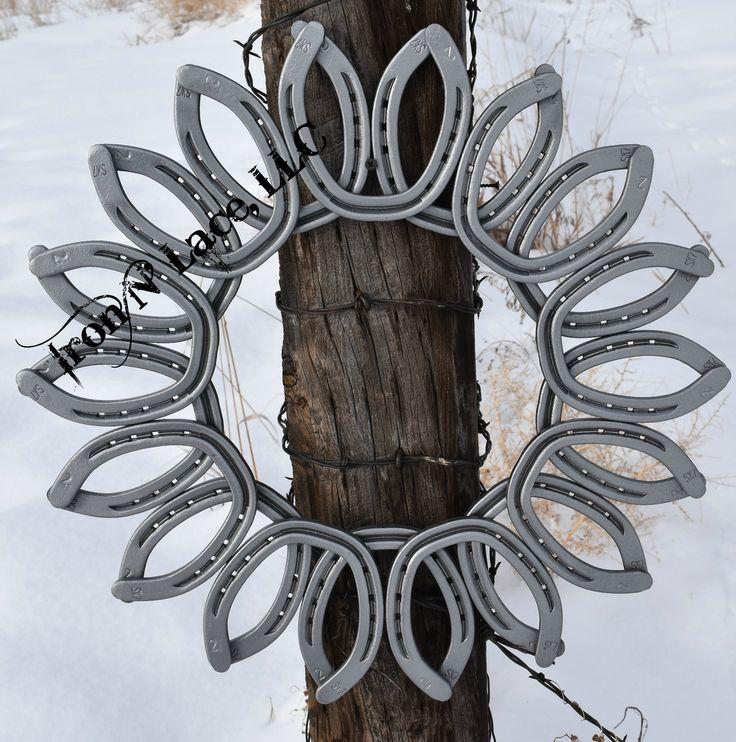 25 best ideas about horseshoe wreath on pinterest horse for Horseshoe christmas art