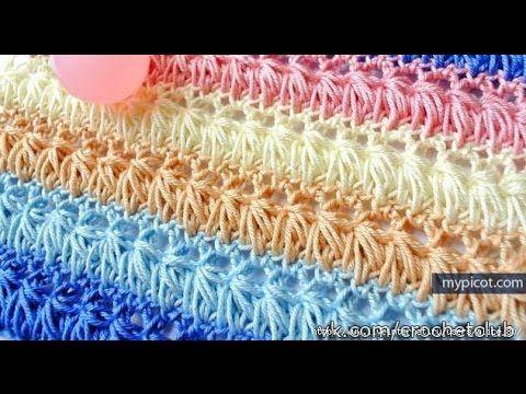 Cachecol de Crochê Jade - Aprendendo Croche - YouTube