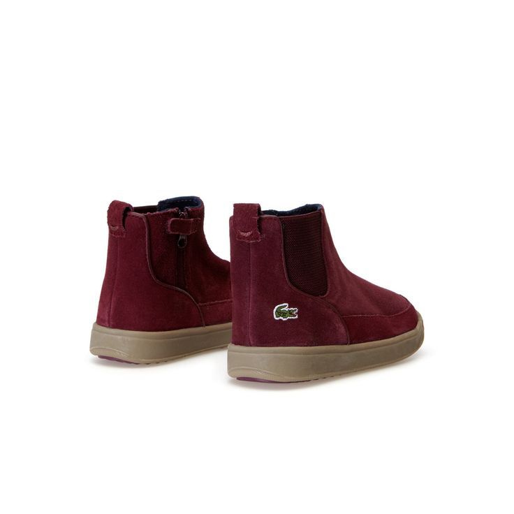 Outlet LaCoste Burgundy Suede Ankle Boots