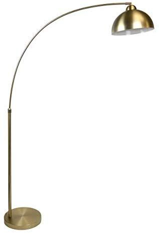 Grandview Gallery 68 5 Plated Gold Modern Arc Floor Lamp Featuring Built In Extender And Metal