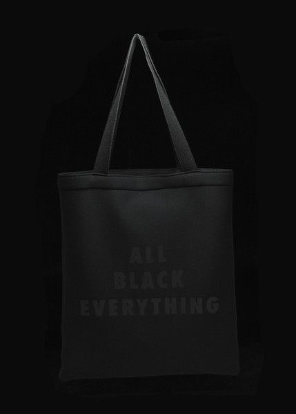 """Bags made with recycled plastic! Totein Black Neoprene with Vinyl Press Dimensions Height:15.25"""" Width: 13.5"""""""