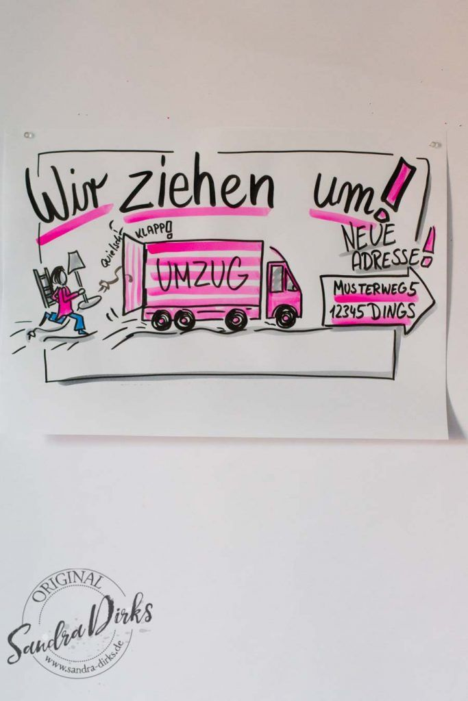 Mini - Flipchartkurs Umzugswagen https://sandra-dirks.de/mini-flipchartkurs-umzugswagen/