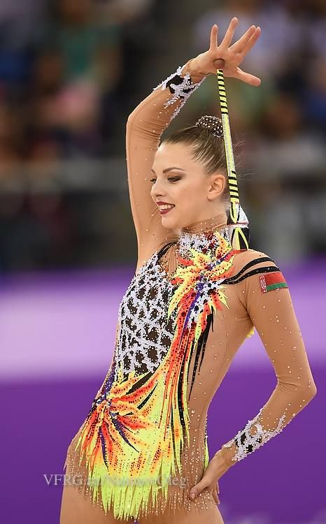 Melitina Staniouta (Belarus) won bronze in clubs finals at European Games 2015