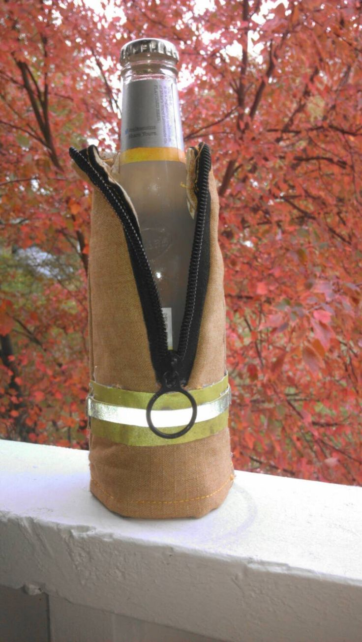 Firefighter CUSTOMIZABLE Koozie for Bottle by PopsPlaceShoppe on Etsy https://www.etsy.com/listing/208475086/firefighter-customizable-koozie-for
