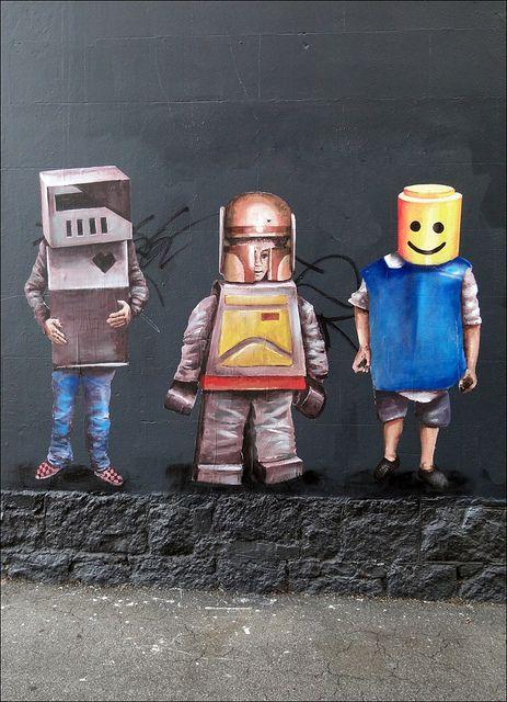 Lego Army. Fintan Magee - Collingwood, Melbourne #lego #streetart
