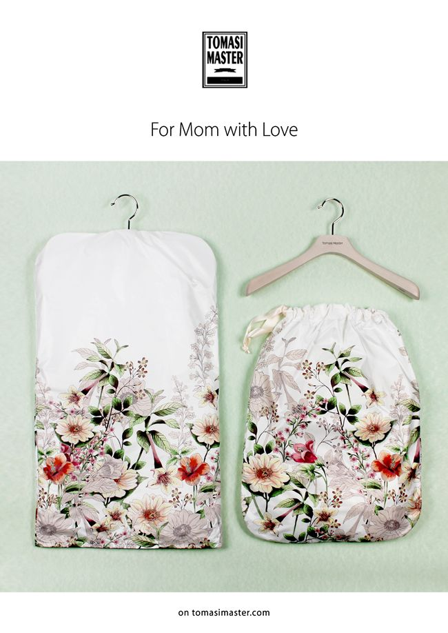 #MothersDay #welovemom #packaging #TomasiMaster #garmentcover #gift #woodenhangers #flowers