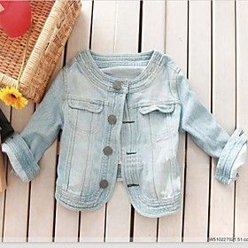 Ladies' Fashion Slim Denim Jeans Jackets Short Outerwear Size S/M/L