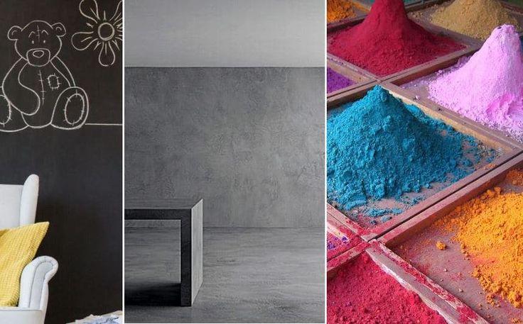 Pintura decorativa para paredes; tipos y cómo aplicar.  #pintura #decoracion #casa #vivienda #interiorismo #color