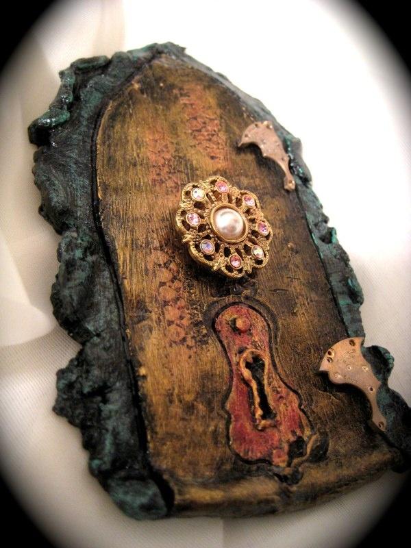 Faerie door & 120 best Fairy Doors images on Pinterest   Fairies garden Fairy ...