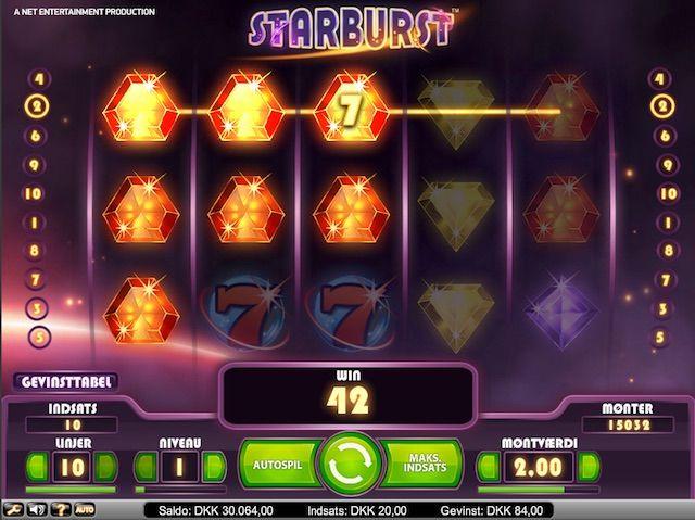 Flere spillere har forvandlet de 25 ekstra spins til store beløb. Test dit held helt gratis med det samme! http://www.onlinebingospil.com/spilleautomaten-starburst/