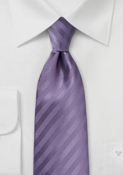 Krawatte Streifen purpur abgestuft