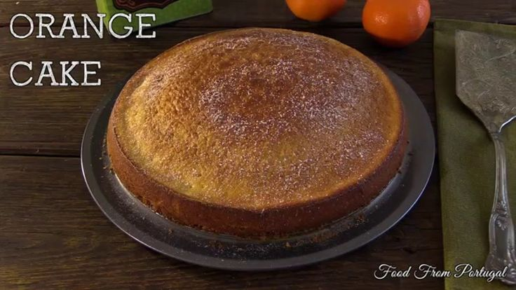 A delicious and easy cake to prepare, ideal for the whole family with an orange flavor, prepared with eggs, sugar, flour and orange juice.  Visit this recipe here: http://www.foodfromportugal.com/recipe/orange-cake/  Website: http://www.foodfromportugal.com/  Facebook: https://www.facebook.com/FoodFromPortugal