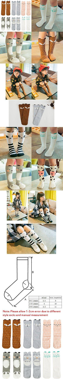 VWU 6 Pairs Baby Girls Boys Cartoon Knee High Stockings Tube Socks 1-5Y (1-3 years, Set 5)