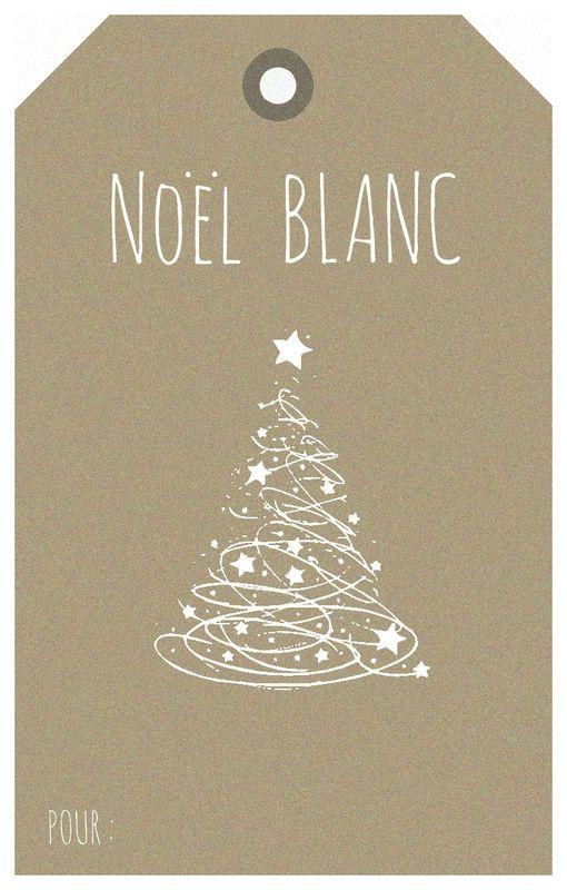 Noël Blanc étiquette Histoire de lin