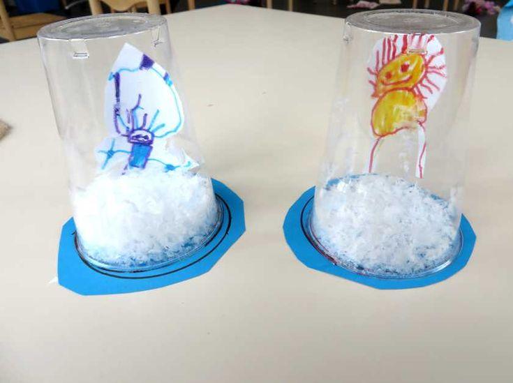 Snowglobe met eskimo 1, kleuteridee.nl , thema Noordpool & Zuidpool voor kleutersSnowglobe met eskimo 1, kleuteridee.nl , thema Noordpool & ...