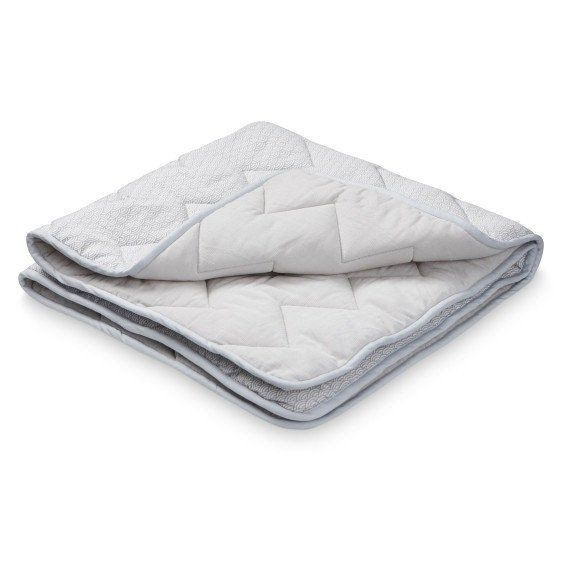 Baby Blanket Quilt Grey Wave Organic Cotton- CamCam Copenhagen. £45 avaliable on the website now.   https://www.claudeandco.co.uk/collections/bedding-blankets/products/baby-blanket-grey-wave
