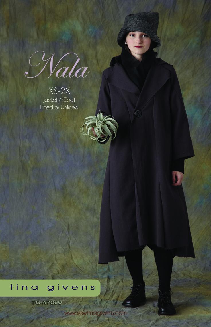 146 best tina givens sewing wishlist images on pinterest sewing nala coat pattern front by tina givens jeuxipadfo Choice Image
