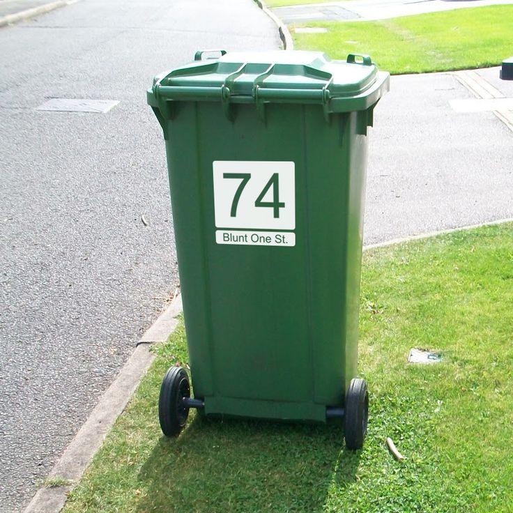 Wheelie Bin Numbers with Road Name