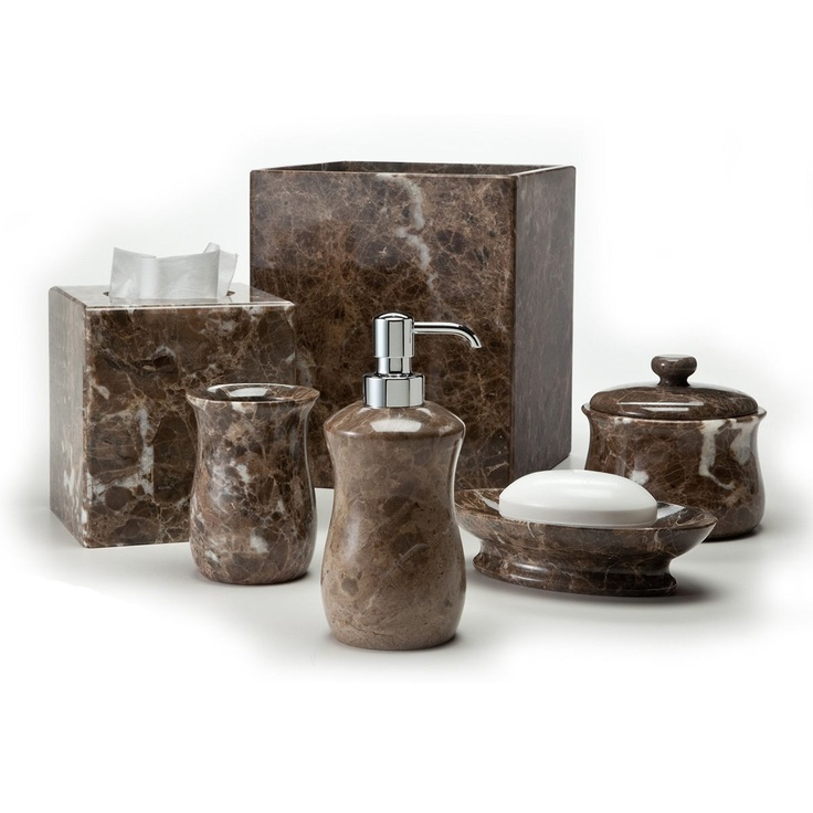 crystal bathroom accessories sets%0A Brown Labrazel Tissue Cover and bath accessories