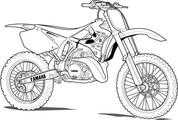 Dirt Bike Coloring Pages Bike Drawing Dirt Bike Tattoo Motorbike Drawing