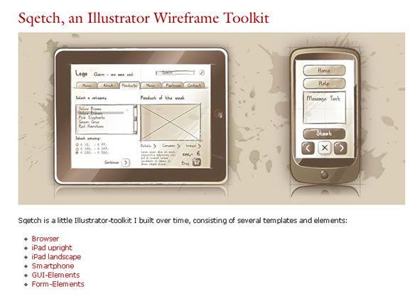 10 free ui wireframe kits - Free Wireframe Mockup