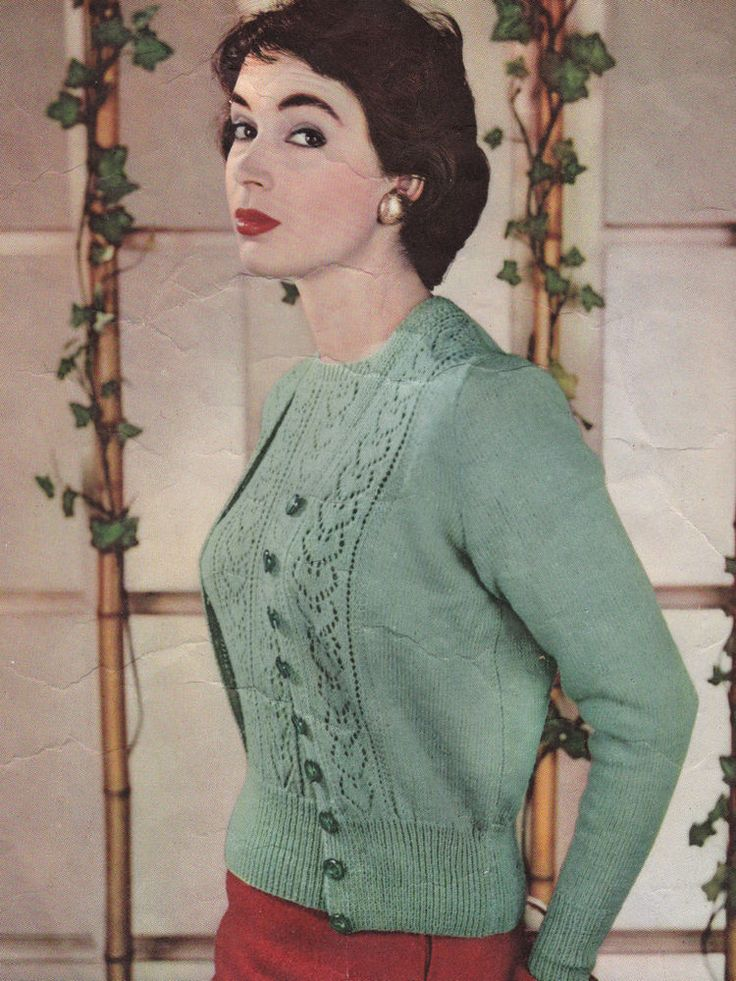 Vintage Knitting Pattern Instructions to Make Ladies Jumper & Cardigan Twinset