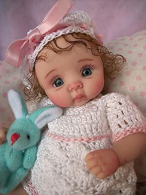 """❤OOAK HAND SCULPTED  BABY GIRL """"TINA""""   BY: JONI INLOW* DOLLY-STREET❤"""