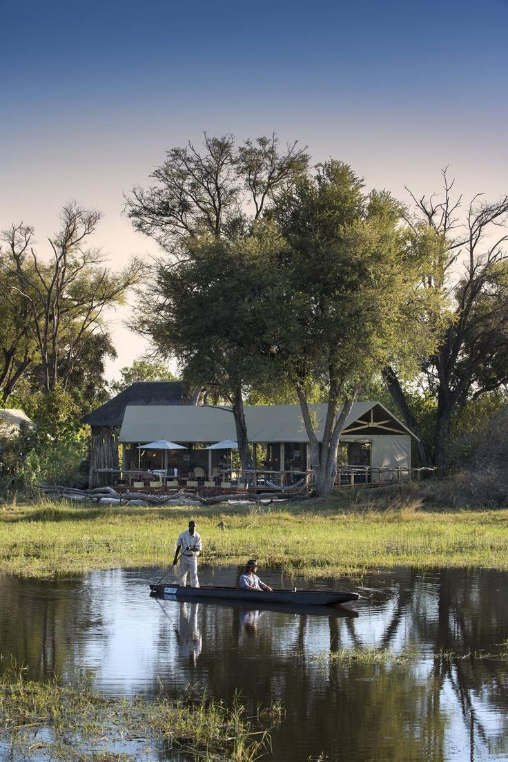 Khwai Tented Camp, Khwai Concession, Waters edge, Canoeing. #luxury #safari #accommodation #botswana #getaway