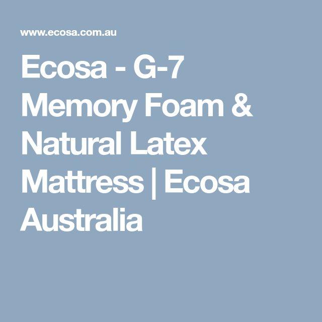 Ecosa - G-7 Memory Foam & Natural Latex Mattress | Ecosa Australia #naturalmattress