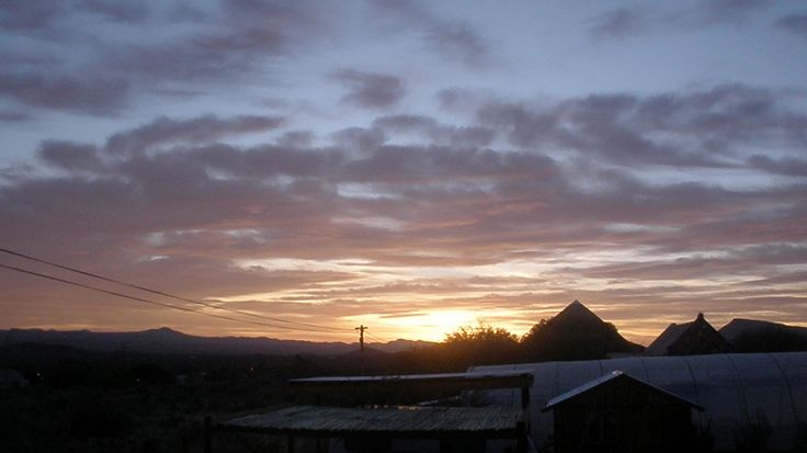What we wake up to at Karoo View Cottages