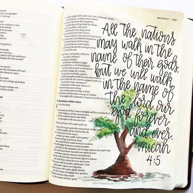 Micah 4:5  /  beautiful.bible