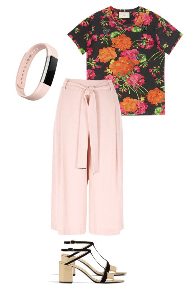 """""""Untitled #3900"""" by xoflawlessmannequinxo ❤ liked on Polyvore featuring Gucci, River Island and Fitbit"""