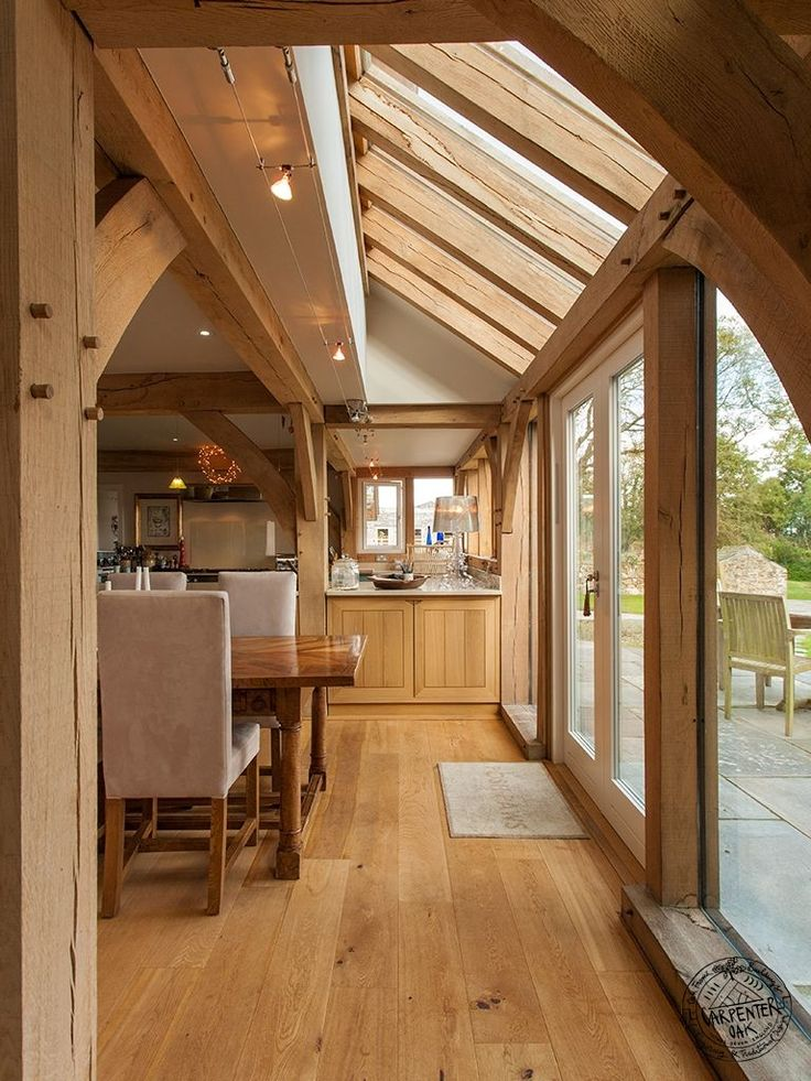 140 best interior photos of timber frames images on for Oak framed house designs