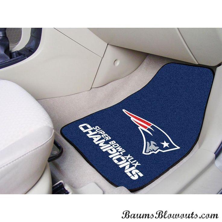 """New England Patriots Super Bowl XLIX Champions 2-piece Carpeted Cat Mats 18x27"""""""""""