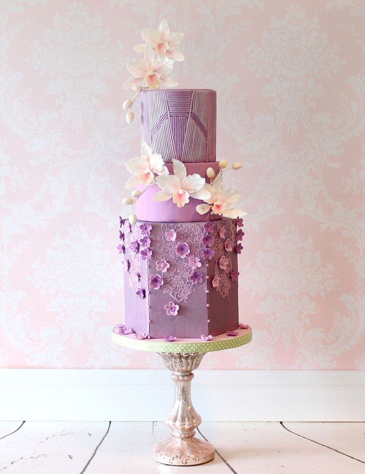 256 best Orchid Cakes images on Pinterest Sugar flowers Orchid