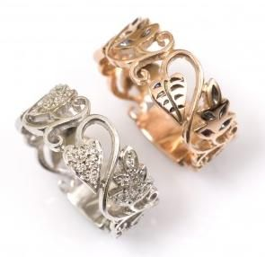 Passion Vine wedding band by Love and Hatred