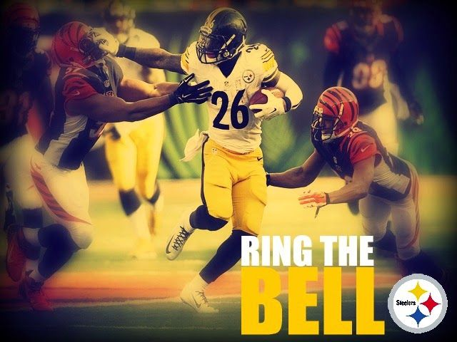 le'veon bell with a huge day in cincinnati on december 7, 2014. from the unlikely orange